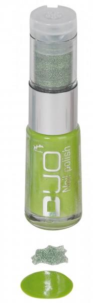 Grün Funkelnder Nagellack Mit Glitterpuder