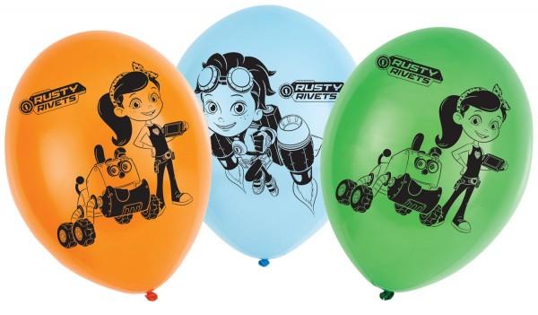 6 Rusty Rivets Latexballons 28cm
