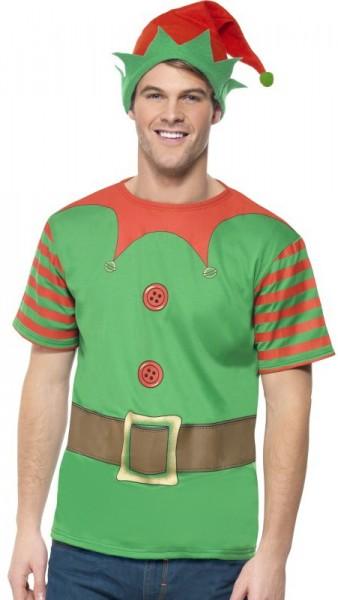Disfraz de elfo navideño Martin para hombre