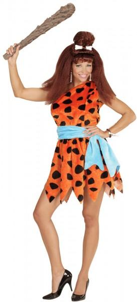 Miss Stone Age-kostuum voor dames