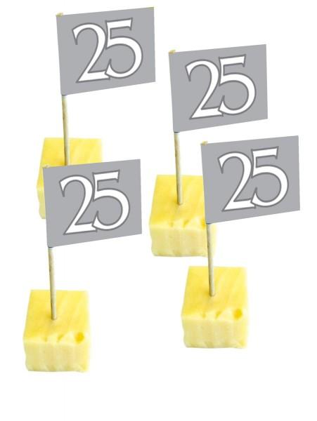 50 Käsespieße zur Silberhochzeit