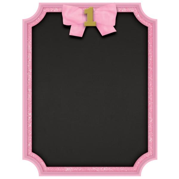 Pinkstar 1st Birthday chalk board 18 x 23cm
