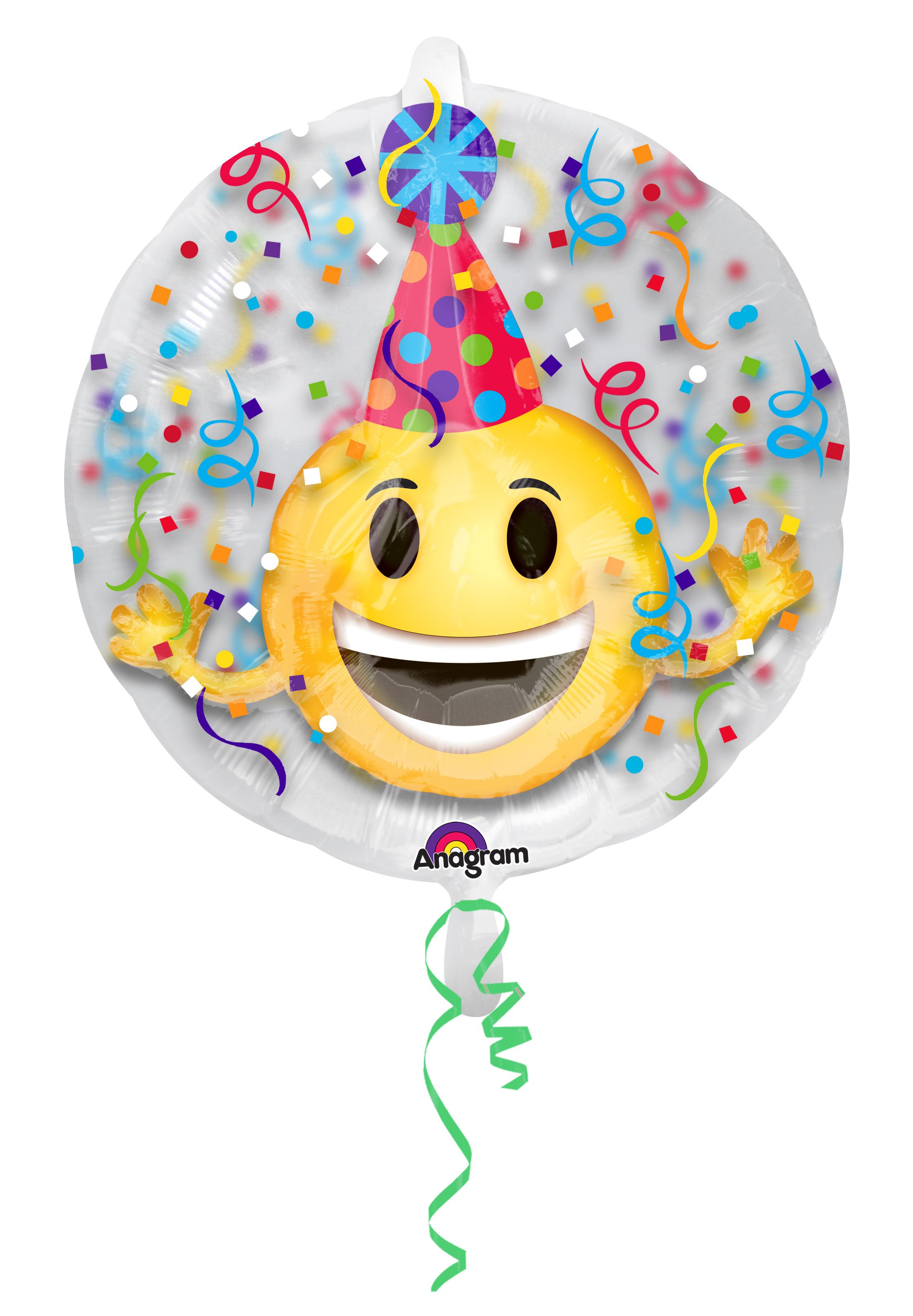Geburtstagsballon Lachender Smiley Rund Party De