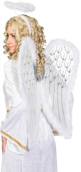 Conjunto de accesorios para disfraz de ángel de 2 piezas