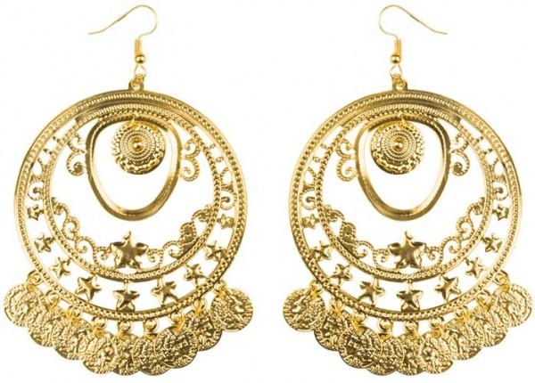 Orientalische Statement Ohrringe Gold