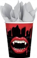 8 Vampir Dinner Pappbecher 266ml