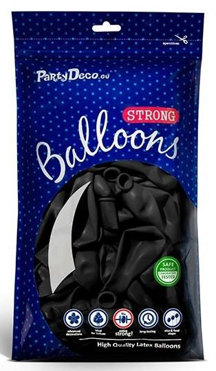 50 balonów Partystar czarne 27 cm