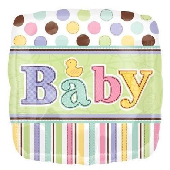 Ballon aluminium carré Pastel baby shower coloré
