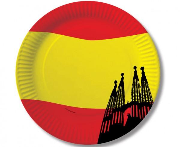 10 Spanien Pappteller Barcelona 23cm