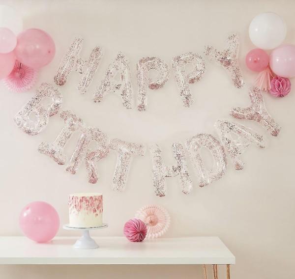 Girlanda z balonów urodzinowych konfetti 4m