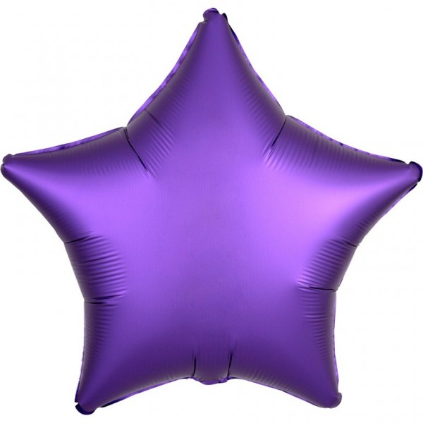 Folienballon Stern Satinoptik lila 43cm