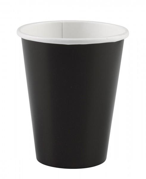 20 vasos de papel negro 266ml