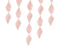 Krepppapier Girlande hellrosa 3m