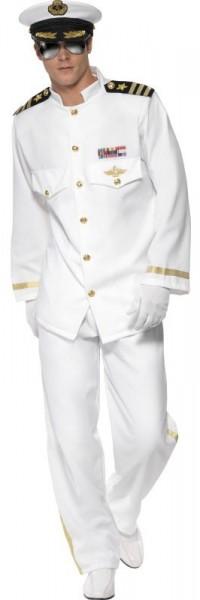 Weißes Kapitäns Herrenkostüm 1