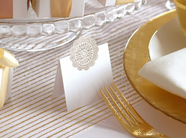 Organza fabric gold stripes 9m x 48cm