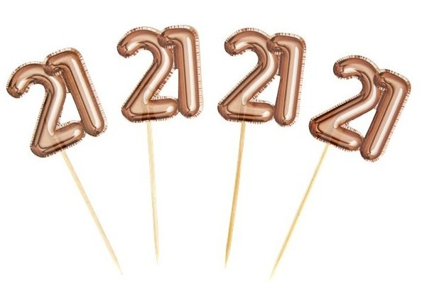 20 cupcake skewers 21st birthday gold