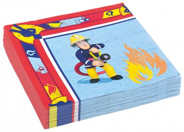 Feuerwehrmann Sam Serviette Rettungseinsatz 20 Stück 1
