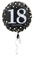 Golden 18th Birthday Folienballon 43cm