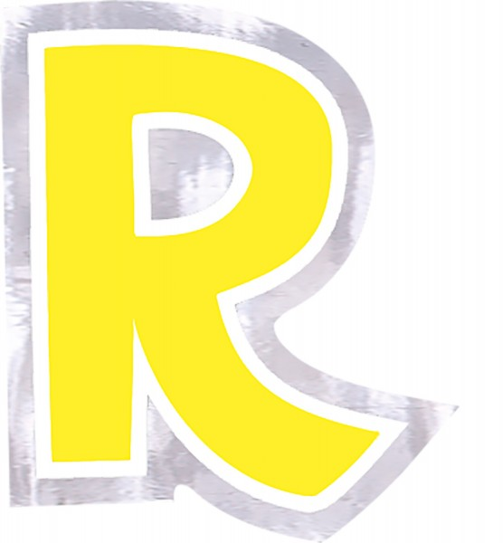 48 balloon stickers letter R.