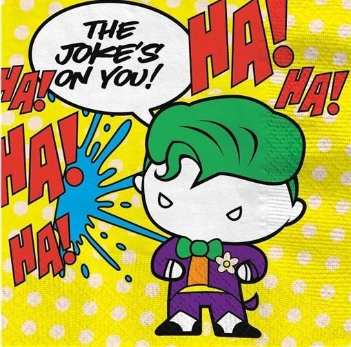 16 Batman & Joker Comic Servietten 33cm