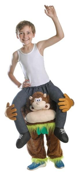 Jungle monkey piggyback kids costume