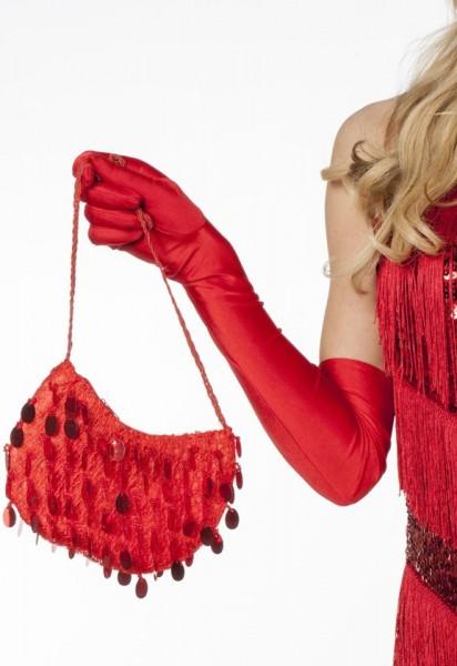 Pailletten Handtasche Rot