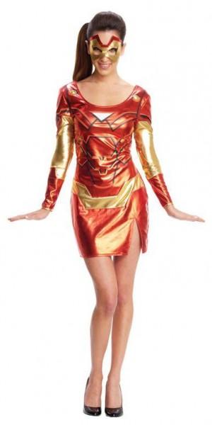 Kostüm Minikleid Iron Man Glänzend Mit Augenmaske