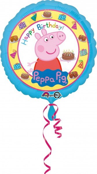 Globo foil Peppa Pig Happy Birthday 43cm