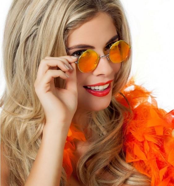 Occhiali hippie arancioni Lennon