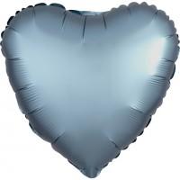 Ballon aluminium coeur aspect satin bleu acier