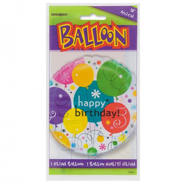 Ballon en aluminium Breezy Birthday Party
