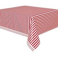 Party Tischdecke Victoria Rot Gestreift 137 x 274cm