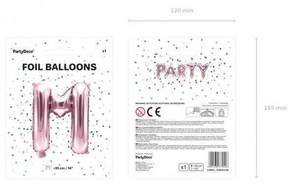 Folienballon M roségold 35cm 5