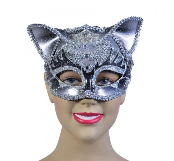 Edle Juwelen Katzen Maske