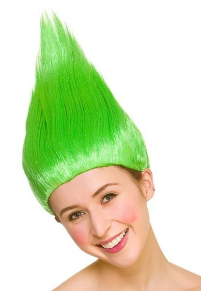 Troll Kobold Perücke grün