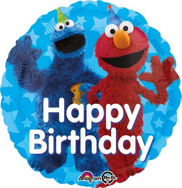 Ballon d'anniversaire Cookie Monster & Elmo