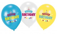 6 Birthday Wishes Luftballons 28cm