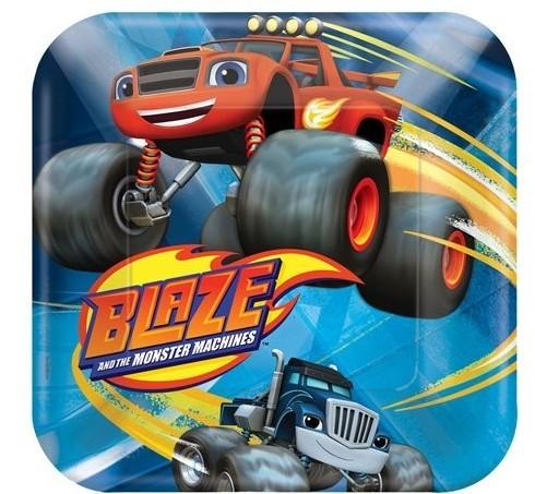 8 Blaze Racers License Pappteller 17cm