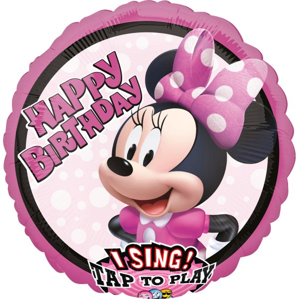 Singing Minnie Mouse Musikballon 71cm