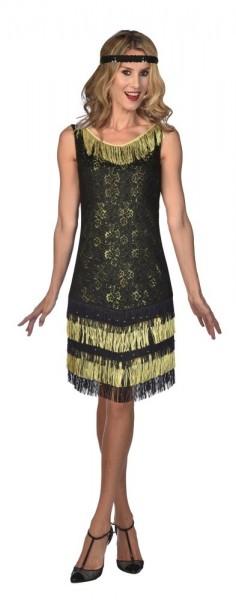 Charleston Flapper Dress Black & Gold
