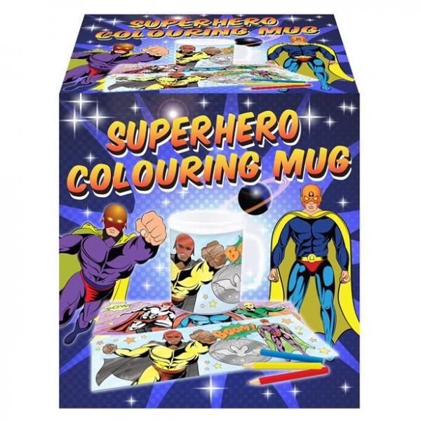 Superhero mug for coloring