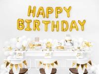 Vorschau: 20 Glossy Happy Birthday Servietten 33cm