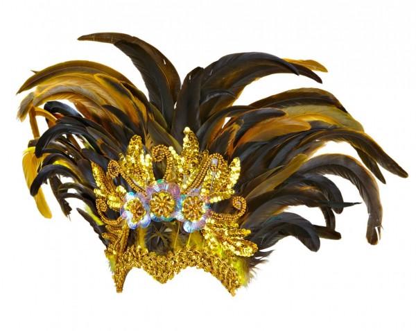 Edler Aurelaia Feder Kopfschmuck In Gold