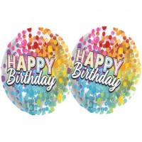 Vorschau: Happy Birthday Heliumflasche mit Ballons