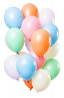 15 Latexballons bunt pastellfarben