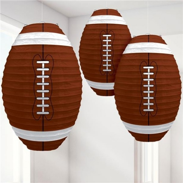 3 American Football Legend Lampions 34cm