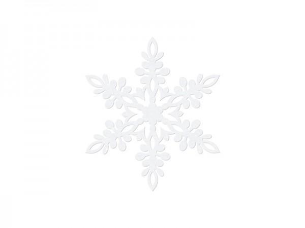 10 white paper snowflakes Lona 9cm