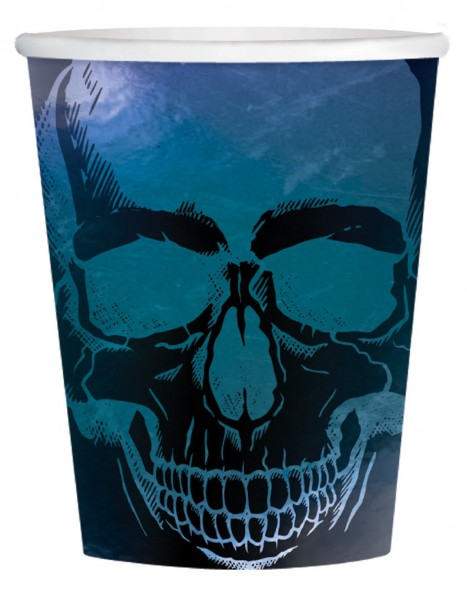 8 Shimmer Skull Halloween kopper 266ml