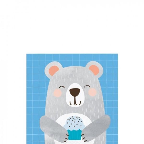 16 Geburtstagsbär Papierservietten 25cm