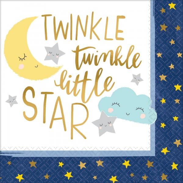 16 Twinkle Little Star Servietten 33cm
